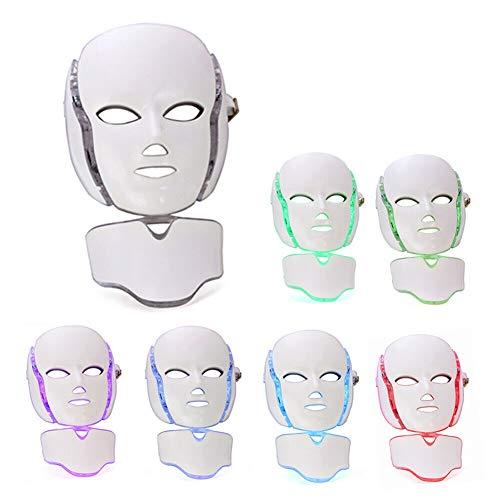 QIYU 7 Farben LED Maske Lichtbehandlung, Kollagen Straffung Gesichtspflege Anti-Falten Anti-Akne LED Maske, Anti-Aging, Anziehen, Narben, Verbesserte Lichttherapie Maske