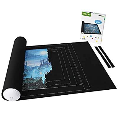 Lavievert Jigsaw Puzzle Storage Roll Mat with Unique Auxiliary Line Design for Up to 1,500 Pieces Puzzle, Puzzle Saver for Adults & Kids, Environmental Friendly Material from Lavievert