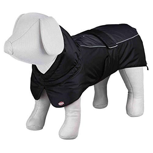 TRIXIE Prime Manteau d'Hiver pour Chien Noir/Gris 33 cm Taille S