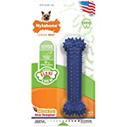 Nylabone Moderate Chew FlexiChew Dental Chew Toy Chicken Flavor X-Small/Petite - Up to 15 lbs.