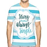 Shiyiqi7 Mens Cotton T-Shirt Quality Tshirts Strong People Simple Inspirational Quote Calligraphy Style Handwritten Card Poster