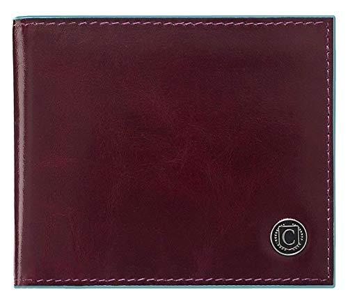 Billetera para Hombre CASIMIRRI 1892 , Delgada, Hombre, pequeña Delgada RFID, Regalo, Billetera con Monedero, Delgada, portamonedas, Billetera niño(Marron Burdeos)
