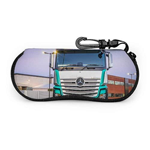 AOOEDM Estuche para gafas de sol para camión grande y poderoso, estuche para anteojos para niños, estuche para gafas de neopreno portátil ligero con cremallera, estuche blando para niños