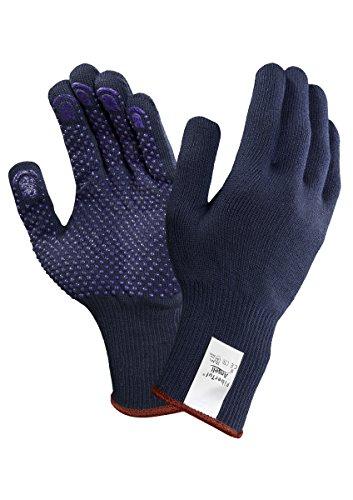 Ansell Fibertuf 76-501 Guanto Multiuso, Protezione Meccanica, Blu, Taglia 9 (Sacchetto di 12 Paia)