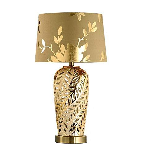 HFA Lampe de Table Simple Moderne Nordique Art Fashion Luxury Or Lampe de Chevet Villa Bureau Ch