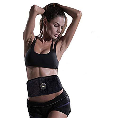 CYYYY Massage Belt Addominale, Muscoli ABS Stimolatore Allenando SME di Massaggio con 2 PCS Patch di Ricambio Gel Pads