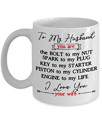 XCNGG Mechanic Gift for Husband Men Funny Love Mug from Wife Mechanical Coffee Cup