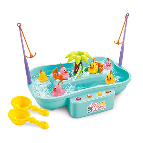 Best Price Dsxnklnd Simulated Electric Fishing Toys Water Cycle Game Fish Light Music Baby Bath for ...