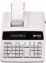 $104 » (1) Genuine Monroe 6120X 12-Digit Print/Display Business Medium-Duty Calculator in Ivory