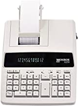 $109 » (1) Genuine Monroe 6120X 12-Digit Print/Display Business Medium-Duty Calculator in Ivory
