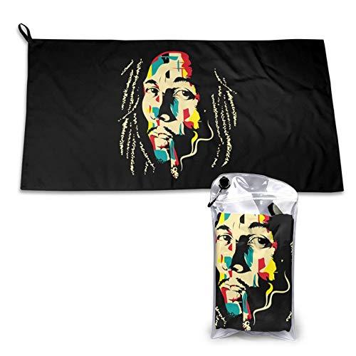 N / A Bob Marley - Toalla de secado rápido (40 x 80 cm)