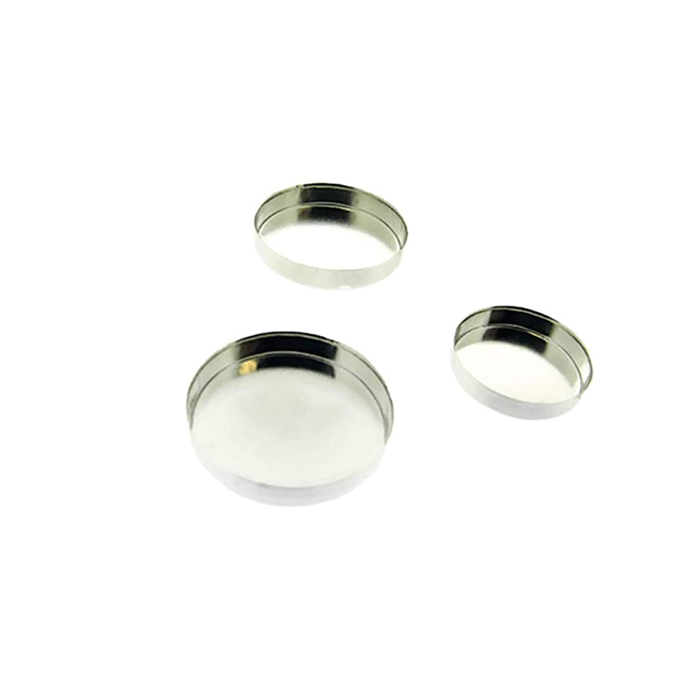 Bedrock Jewelry 20 Fine Silver .999 Round Bezel Cup Setting, Sizes 3mm, 4mm, 5mm, 6mm, 8mm 10mm