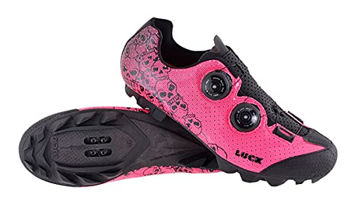 LUCK Zapatillas MTB Galaxy Calaveras. Zapatos Ciclismo Montaña para Hombre y Mujer....