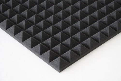 50 stk. Pyramiden Akustikschaumstoff Akustik Schaumstoff,Akustik Dämmung ca 49 x 49 x 4 cm Anthrazit