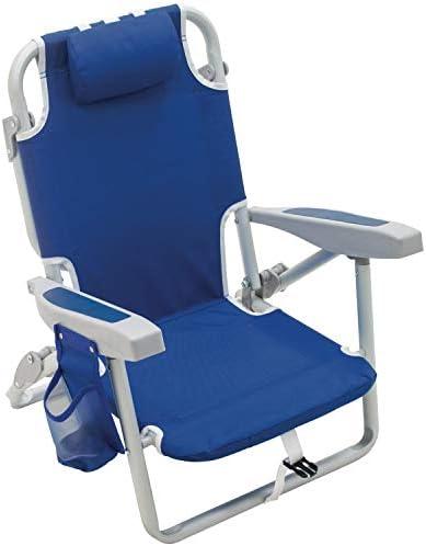 Rio Gear Beach Kid s 5 Position Lay Flat Backpack Folding Beach Chair Blue 7 product image