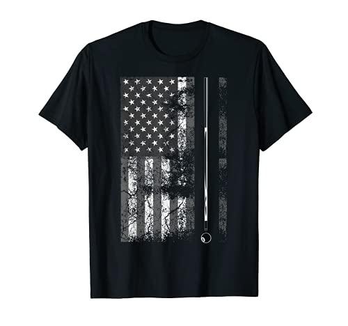 Bâton de Billard Drapeau Américain Mignon Jeu de Table Amusant USA Cadeau T-Shirt
