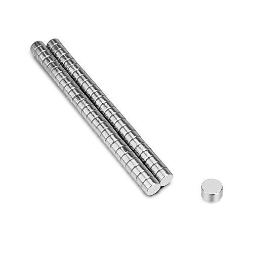 tinxi 50 pezzi Nd-Fe-B N42 Neodimio Mini Magneti Ø5 * 3mm magneti tondi