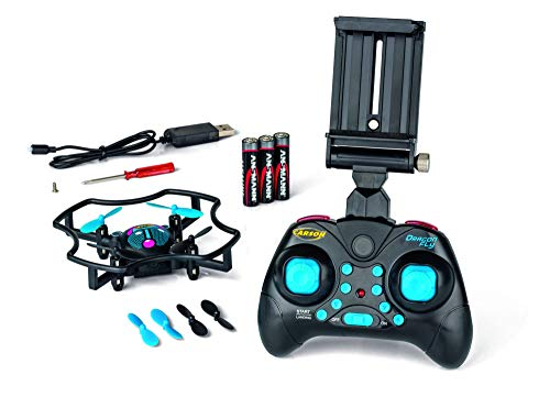 CARSON 500507137 - X4 Quadcopter Dragonfly FPV 2.4G 100%RTF, Ferngesteuerte Flugmodelle, flugfertiges Modell, RC Quadcopter/ Drohne, inkl. Batterien und Fernsteuerung, 100% flugfertig, 2,4 GHz