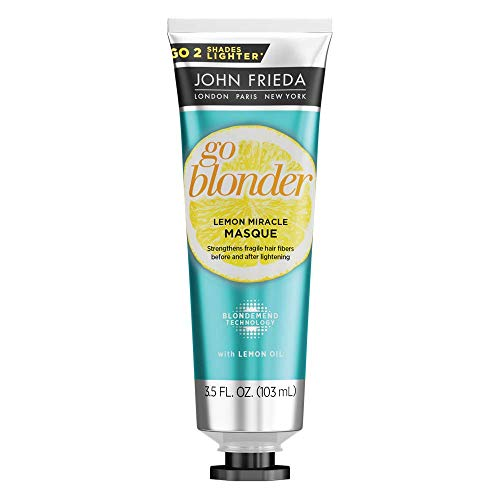 John Frieda Go Blonder Lemon Miracle Masque, 3.5 Ounce In-shower Hair Treatment, Helps Strengthen Lightened Hair Fibers