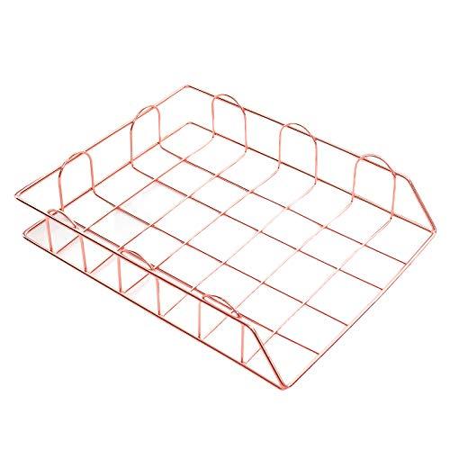 PovKeever Apilables A4 archivadores Carta Carpetas Metal Correo Cajas Documento Carpeta Documento Oficina Papelería