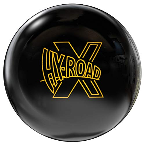 Storm Hy-Road X, Schwarze Pearl Oberfläche, Reaktiv Bowlingkugel für Einsteiger und Turnierspieler - inklusive 100ml EMAX Ball-Reiniger Sehr selten Größe 13 LBS