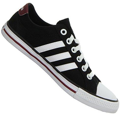 adidas NEO Label Canvas VL 3 Stripes Sneaker Lifestyle Schuhe SCHWARZ Weiss, Farbe:Schwarz, Schuhgröße:EUR 33