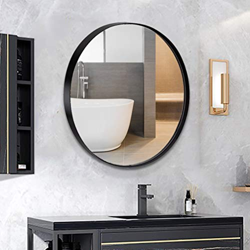 ANDY STAR Round Wall Mirror for Bathroom, 30 Inch Black Circle Mirror -