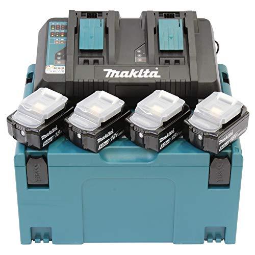 Makita 197626-8 Ioni di Litio 5000Mah 18V Batteria Ricaricabile, 0 W, 18 V, Nero