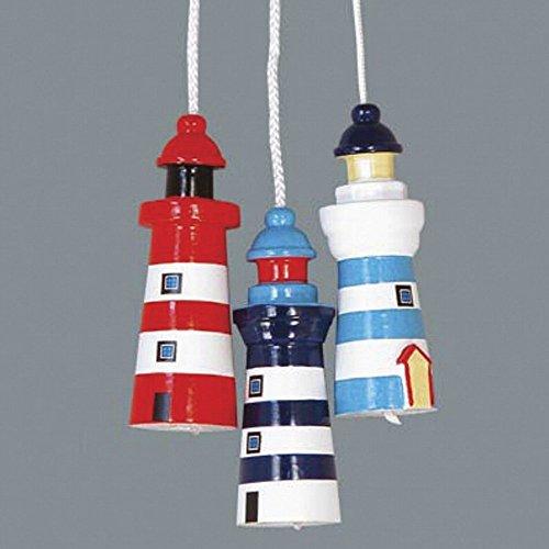 Nautical Theme Lighthouse Light Pull / Light Blue & White