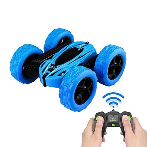 PETRLOY RC stuntauto speelgoed voor kinderen, 360 spins flips oplaadbare snelle offroad voertuig 4X4 rock crawler racewagens 4WD radiografisch bestuurbare roterende tuimelbuggy beste cadeaus aanwezig
