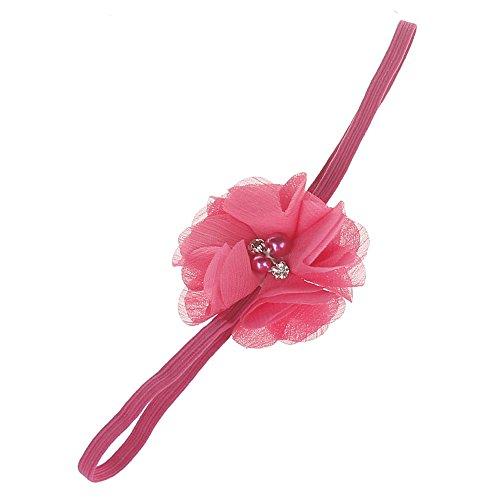 Cinta para el pelo para bebé y niña, elástica, con orejas de conejo impresas, turbante con cinta para la cabeza, hecha a mano, lana Allence Hot Rosa Talla única