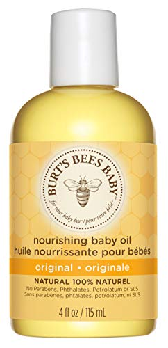 Burt\'s Bees Baby Pflegendes Babyöl, 100 Prozent Natürliche Babyhautpflege, 115 ml Flasche