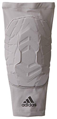 adidas Men's Basketball Techfit Padded Knee Sleeve, Light Granite, XX-Large Tall