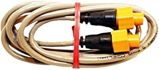 LOWRANCE LOW-000-0127-51 / 6' Ethernet cable, ETHEXT-6YL, MFG# 000-0127-51, with 5 pin yellow connectors for use with Navico systems and NEP-1 or NEP-2 expansion port.