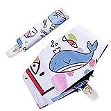 JINYIWJ Paraguas Mujer Pliegue Paraguas Chicos Parasol niños Dibujos Animados océano Animal Anti-UV Hombre automático Parasol para el Engranaje de Lluvia Mini parapluye (Farbe : 3fold Not Automatic)