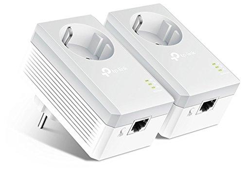 TP-Link TL-PA4010PKIT - PLC 2 Mini Adaptadores (AV 600 Mbps, Extensor, Repetidores de Red, Amplificador Cobertura Internet, Línea Eléctrica, 2 Puerto, Enchufe Adicional)