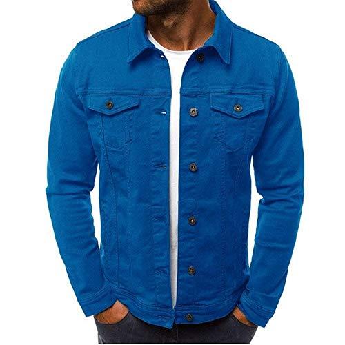 U/A Herren Jacken und Slim Jacke mit Multi-Knopftaschen für Männer Gr. XX-Large, blau
