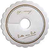 Bitburger Premium Pils Tropfendeckchen Pils Kragen Schaum Fänger Papier Lätzchen Manschette Rosetten Tropfer Tropfdeckchen - 100 Stück