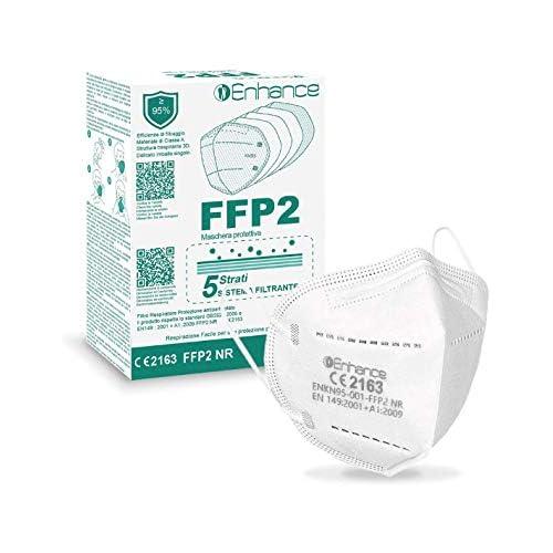 Mascherine FFP2 30 PEZZI con marchio CE protettive, Maschera di protezione antiparticolato FFP2 30 pz mascherine FFP2