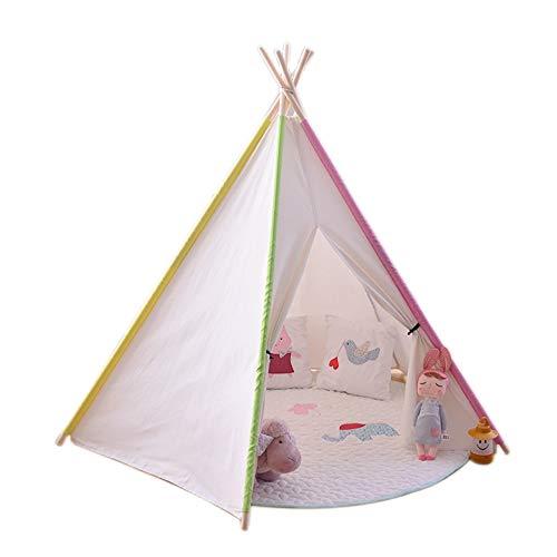 YIJIAHUI Kids Play Tent Pentagonal Children's Tent Toy House Indoor and Outdoor Children's Game Tent Kids Foldable Play Tent for Indoor Outdoor (Color : White, Size : 110x110x115cm)