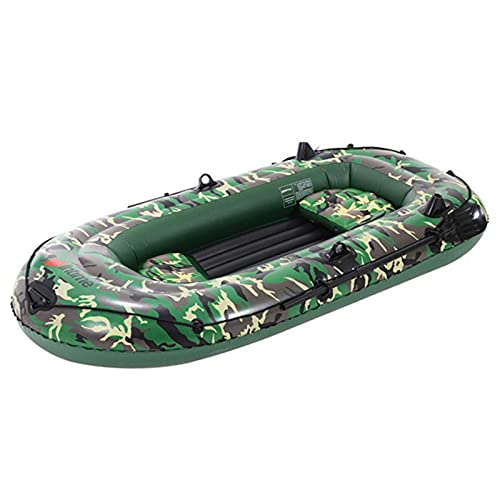 Kayak inflable de PVC para 2-3 personas, barco plegable con bomba de mano de aire, remos con kit de reparación de alta estabilidad en el agua, aventura y kayak de pesca