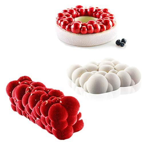 BGREN 3 pièces/Ensemble 3D Nuage Maison fête Mousse gâteau Moule pour Cuisson Silicone Moule Bricolage Cookie Fondant Fait Maison Boulangerie Outil-Une