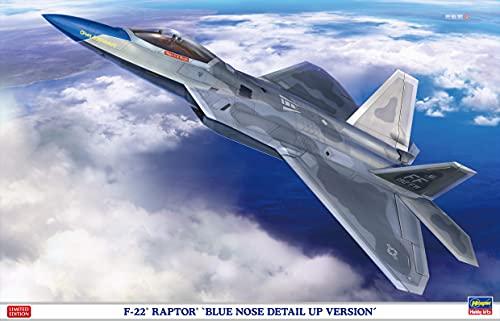 ハセガワ 1/48 アメリカ空軍 F-22 ラプター ブルーノーズ ディテールアップ バージョン プラモデル SP493