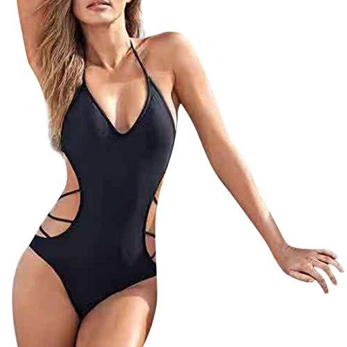 Un Pezzo Plus Size Donna Costume da Bagno a Fascia Costume Mare da Ragazza Trikini Cavo Intero Push up Bikini Bohemian Costumi da Bagno Sexy Swimsuit Bendare Coordinati Beachwear