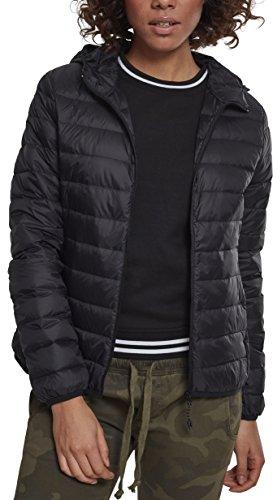 Urban Classics Damen Ladies Basic Hooded Jacket Jacke, Schwarz (Black 00007), Medium (Herstellergröße: M)