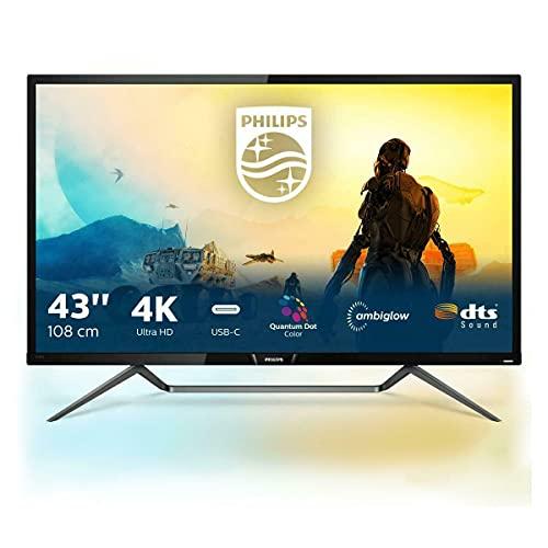 Philips 436M6VBPAB - 43 Zoll UHD Gaming Monitor, HDR1000 (3840x2160, 60 Hz, HDMI 2.0, DisplayPort, U