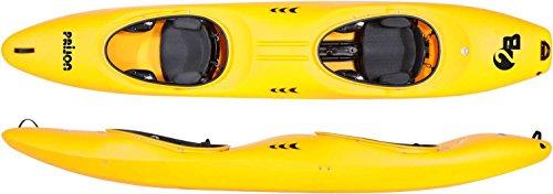Prijon 2B Wildwasser Zweier Kajak Verleiher tauglich Pro Sitzanlage, Farbe:Gelb