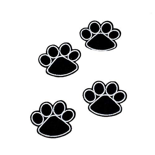 Leisial 10 Stück Patches Hundepfote Patch Aufnäher Tier Bügelbild - Süß Hund Fußabdrücke Patches Aufbügler Applikationen Stickerei Aufkleber