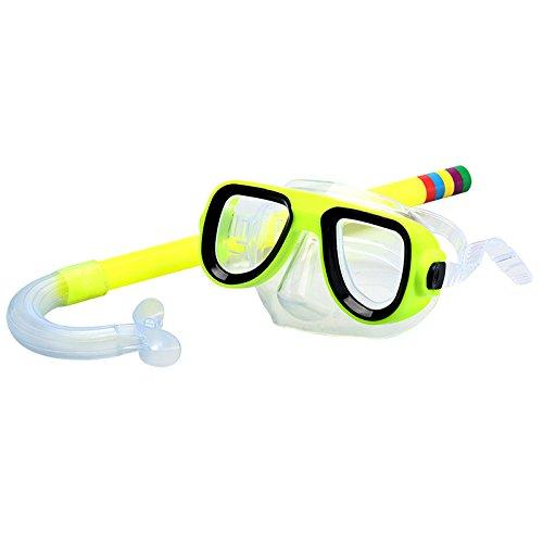 TDORA Conjunto de óculos de natação para crianças/crianças, óculos antiembaçante, equipamento de snorkel, máscara de mergulho para meninos e meninas