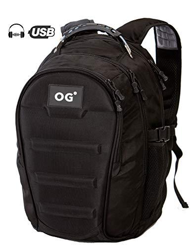 OG Online&Go Militaire Rugtas Leger Camouflage Rugzak, Heren, Waterdicht 40L, USB, Laptop, Kamperen, Wandelen, Fietsen, Reizen (Zwart)